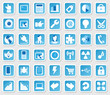 Web Icon Internet Business Set - blau - schatten