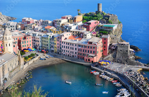 Beautiful view of Vernazza, Italy