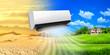 Leinwanddruck Bild - Air conditioner. Comfortable life
