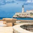 The castle of El Morro in Havana