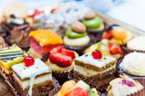 Fototapety Confectionery tray close-up