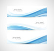 Abstract Header Blue Wave Vect...