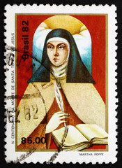 Postage stamp Brazil 1982 St. Theresa of Avila