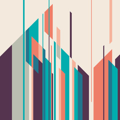 Colorful layout with geometric shapes.