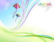 Abstract Colorful Background and Flying Kites