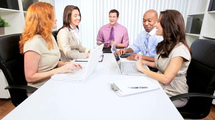 Team Meeting Multi Ethnic Advertising Agency Executives
