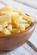 uncooked macaroni bowl