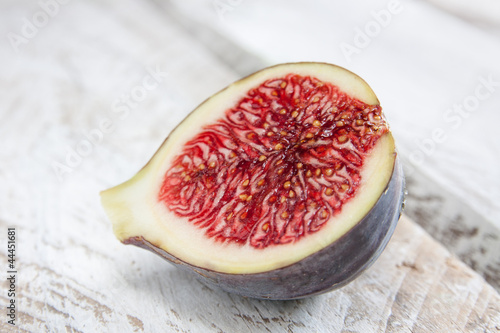 Delicious fig cut in half