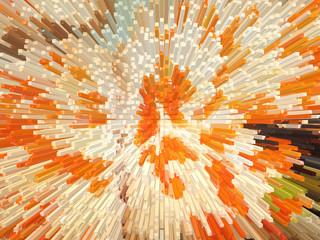 orange and white explosion