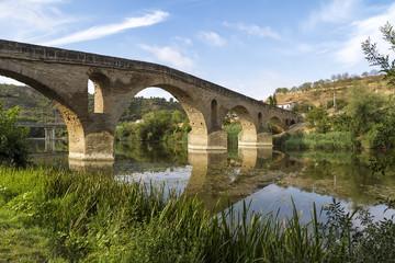 Puente la Reina bridge , Navarre Spain