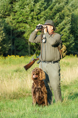 Jäger mit Jagthund