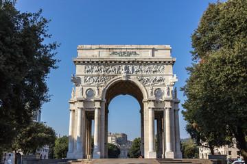 Victory square in Genoa