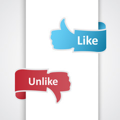 Like and unlike icons.