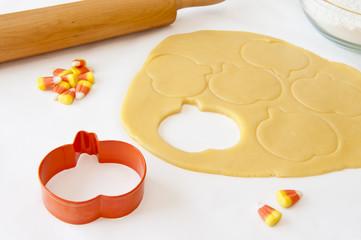 Baking Pumpkin Shaped Cookies