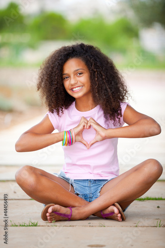 pretty afro teen