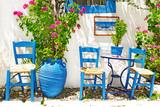 Fototapety traditional Greece series - small street tavernas