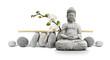 Leinwandbild Motiv Bouddha et Bien-être