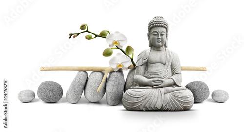 Spoed canvasdoek 2cm dik Standbeeld Bouddha et Bien-être