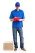 Deliverer full length portrait
