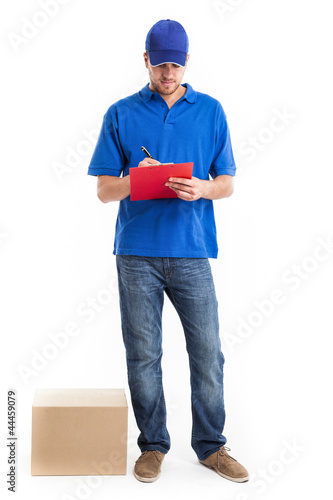 Deliverer full length portrait