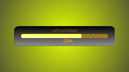 Uploading computer screen graphic animation