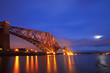 The Forth Rail Bridge crossing between Fife and Edinburgh, Scotl