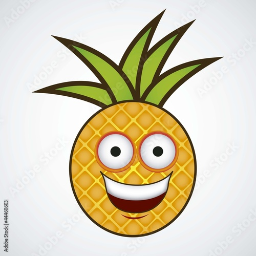 Cartoon pineapple