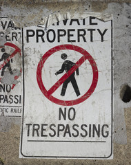 No trespassing background