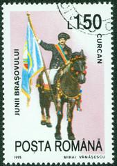 celebrating man riding horse