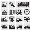 Logistic and shipping icon set