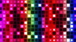 Vivid retro designed disco lights