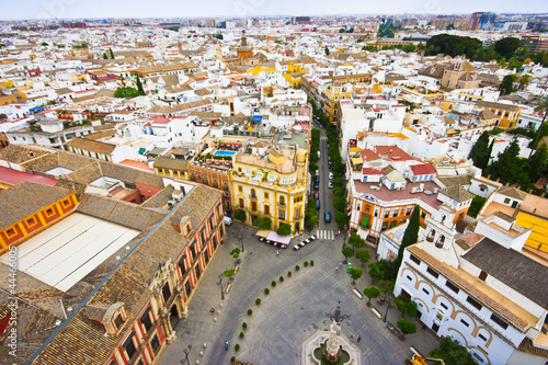 View from tower to Sevilla