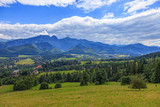 A view of The Tatra Mountains and village in summer, Poland. - Fine Art prints