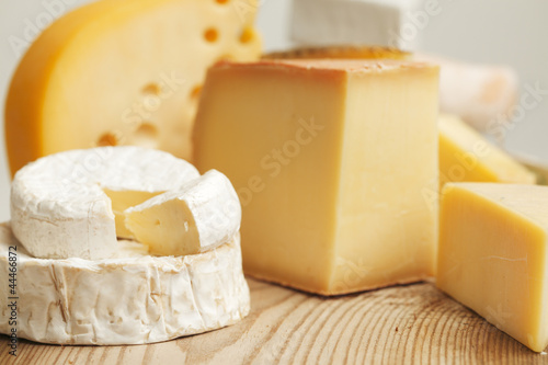 canvas print picture Various types of cheese composition