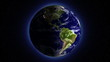 Earth from space.Days changing.Seamless looping animation with s