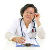Asian senior female doctor