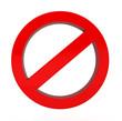 Leinwandbild Motiv Do Not red warning sign
