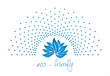 blue water lily , nature, Eco friendly business logo design