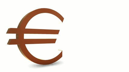 Golden euro symbol - Loop