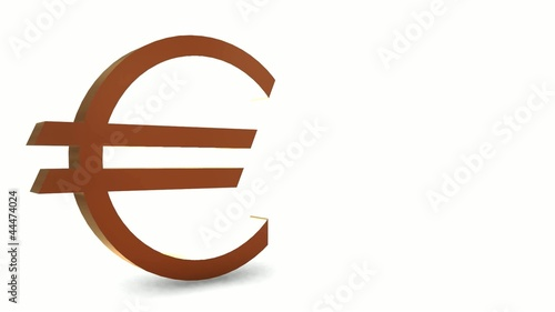 Golden euro symbol - Loop