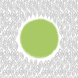 leaf ornamented background with space for text. Vector, EPS8