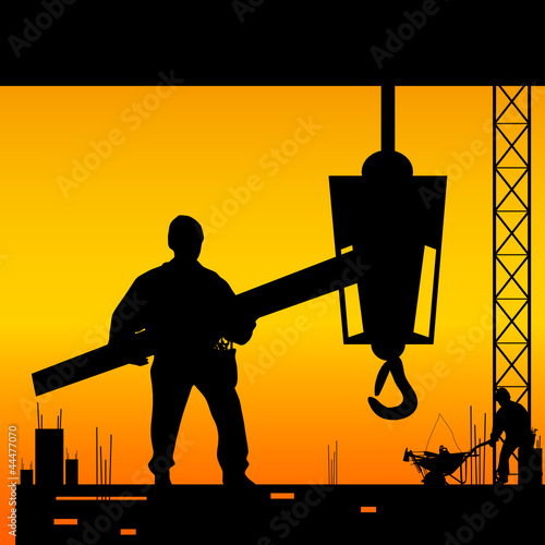 worker on the work place vector illustration