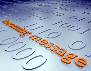 incoming message - 3D