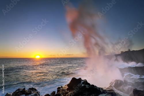 Le Souffleur au crépuscule - Ile de La Réunion