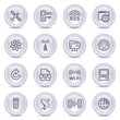 Contour icons on glossy buttons 18