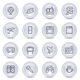 Contour icons on glossy buttons 14