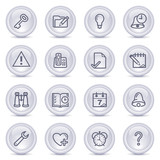 Contour icons on glossy buttons 19