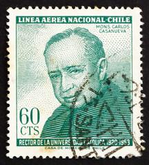 Postage stamp Chile 1965 Msgr. Carlos Casanueva
