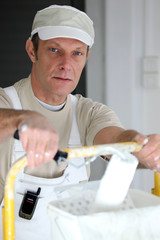 Portrait of painter-decorator