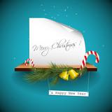 Blue christmas greeting card